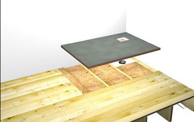 Installer un receveur de douche encastrer for Douche a l italienne sur plancher bois