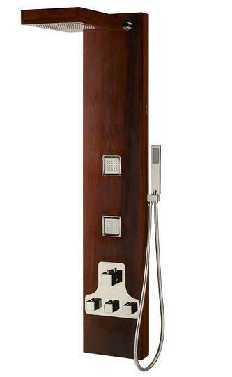 colonne de douche en bois teck