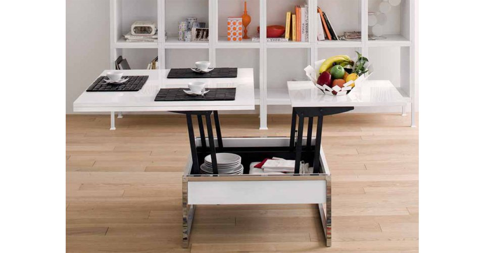 Mod les carr s le guide de la table basse relevable - Table salon transformable ...