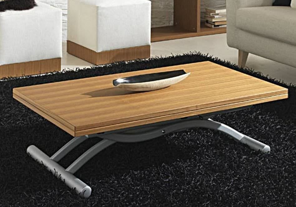 Table basse de salon rehaussable - Table basse convertible en table u00e0 manger ...