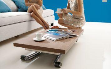 Les modèles de table basse relevable rectangulaires: avantages et inconvénients