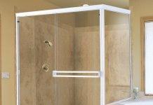 Baignoire sabot r tro en acrylique - Porte de douche extensible ...