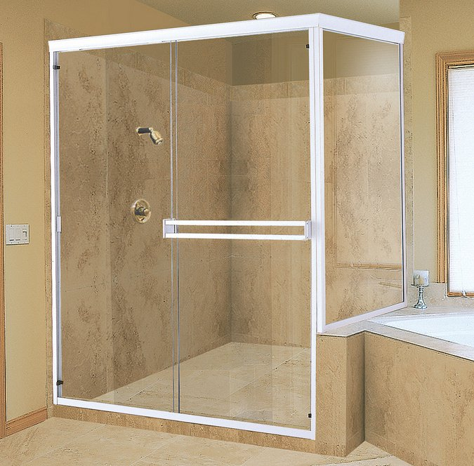 Porte de douche extensible for Porte accordeon pour douche