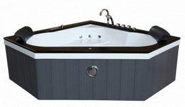 baignoire d'angle bois