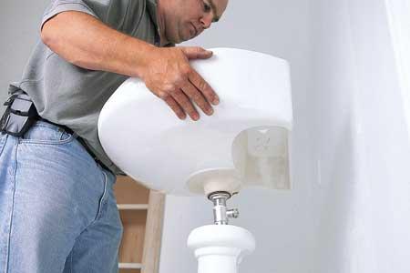 démonter ou remplacer une vasque lavabo
