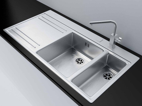 Tailles d 39 vier de cuisine for Dimension evier double