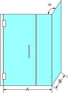 dimensions et formats de porte de douche