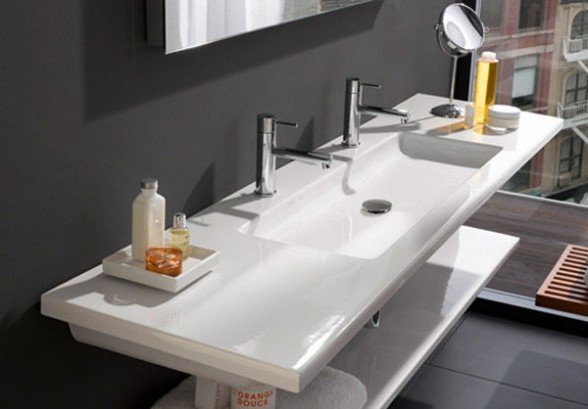 Vasque en c ramique for Lavabo porcelaine ou ceramique