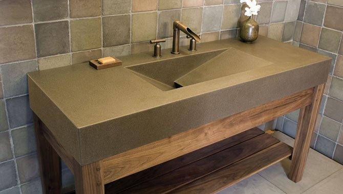 Vasque en b ton cir for Lavabo en beton cire