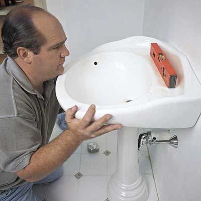 installer un lavabo sur ou sans colonne - consobrico.com - Installer Un Lavabo Salle De Bain