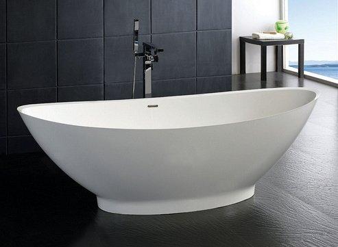 baignoire ilot en résine stone