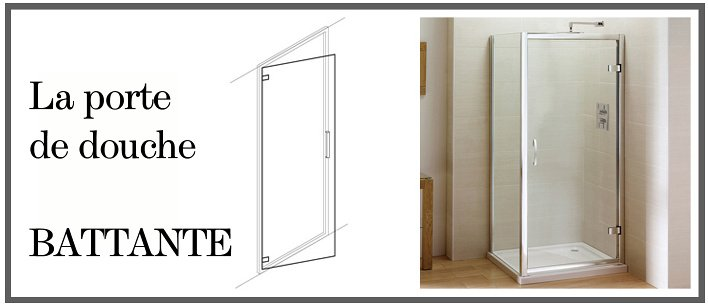 Porte de douche battante for Portes de douche