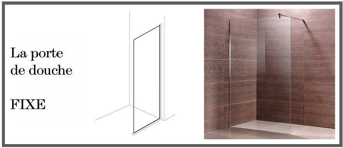 Porte de douche fixe for Porte de douche italienne