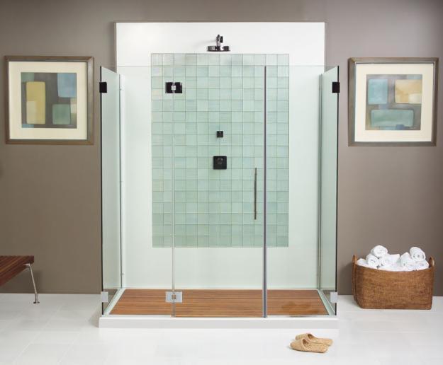 porte de douche transparente