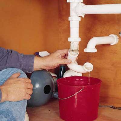 purger eau dans les tuyaux d'alimentation