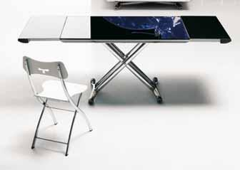 table basse relevable en aluminium