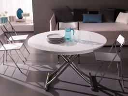 Table basse relevable: les modèles ronds – avantages et inconvénients