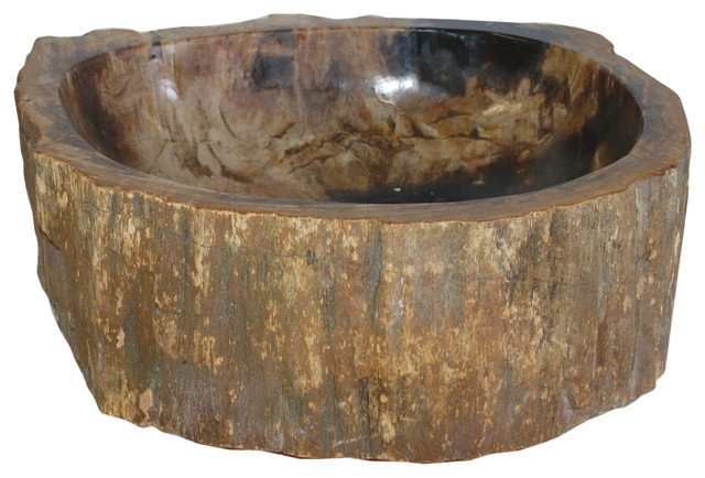 vasque de salle de bain en bois fossilisé