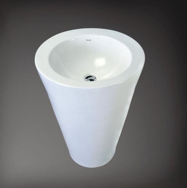 vasque en céramique blanche