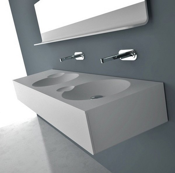 vasque en matière acrylique