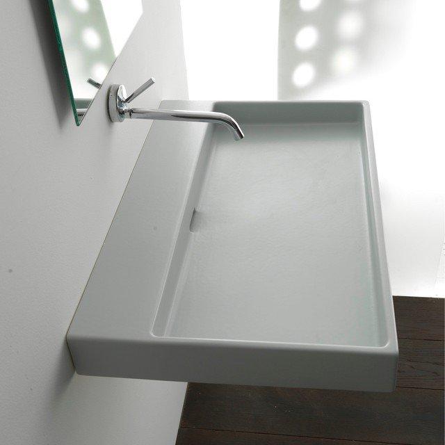 Types de vasque de salle de bain - Lavabo suspendu castorama ...