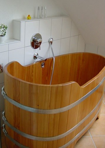 baignoire sabot en bois