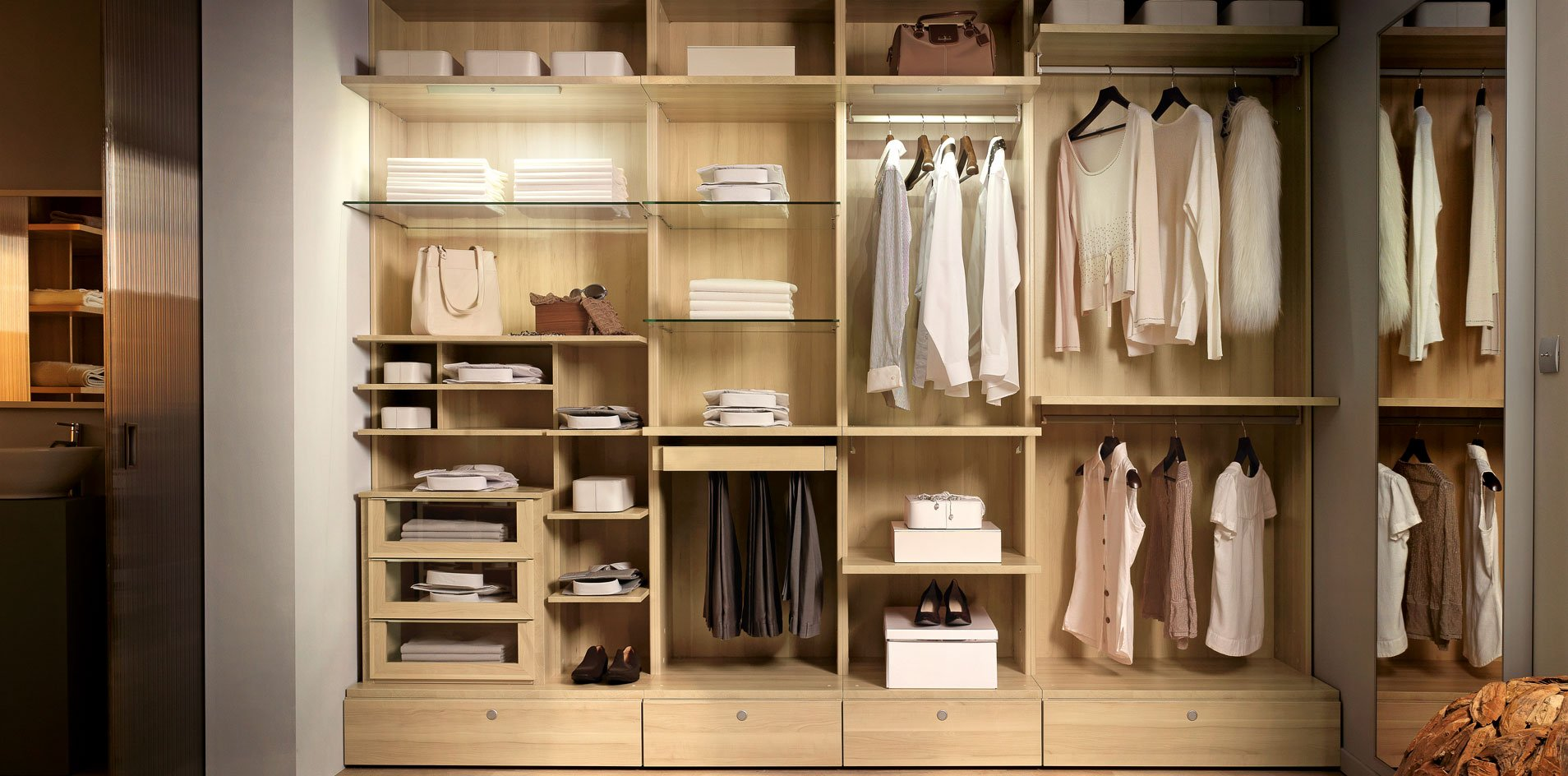 Le dressing - Amenagement placard chambre ikea ...