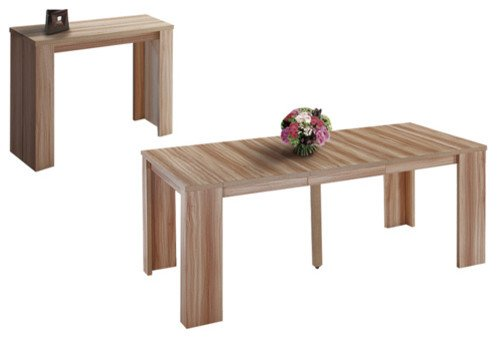 Table console extensible for Table en bois extensible
