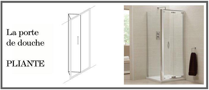 Gagner de l espace dans votre sdb porte de douche pliante - Porte interieur salle de bain ...