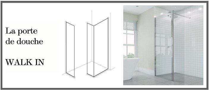 porte de douche walk in. Black Bedroom Furniture Sets. Home Design Ideas