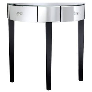 table console en demi lune. Black Bedroom Furniture Sets. Home Design Ideas