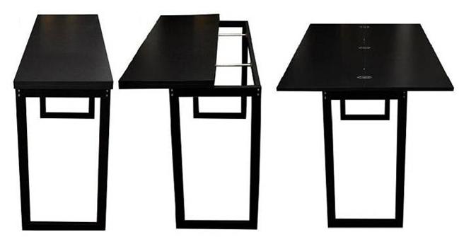 Table console noire for Table console pour cuisine