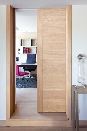 Porte galandage ou escamotable la solution minimaliste - Dimension porte coulissante interieur ...
