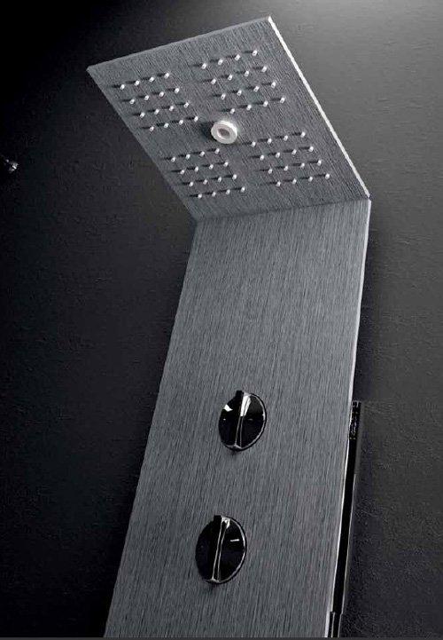 colonne de douche en aluminium brossé