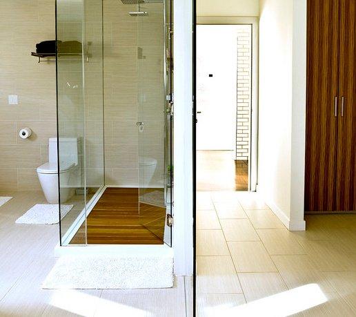 receveur douche design en bois traité