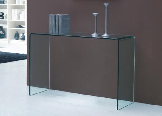 table console en verre. Black Bedroom Furniture Sets. Home Design Ideas