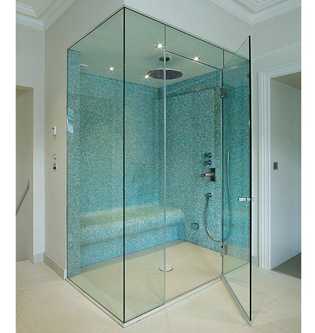 cabine-de-douche-et-porte-en-verre Quid des meilleurs matériaux pour sa douche: astuces et conseils