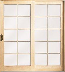 bois - Les matières des portes coulissantes: bois, aluminium et verre