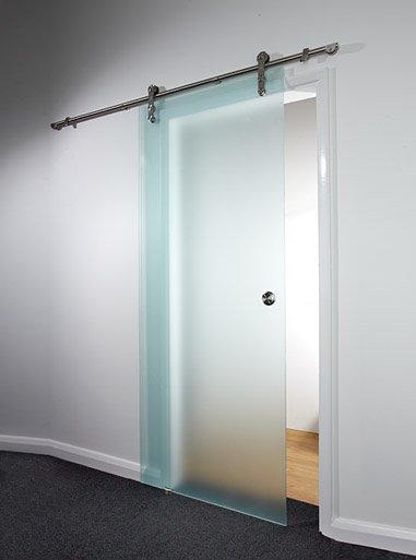 Porte coulissante en verre pour cuisine maison design for Porte en verre