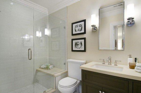 12 styles de douche avec si ge ne pas manquer for Photo douche italienne avec banc