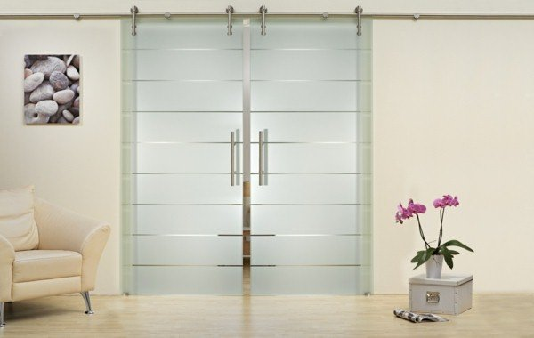 Portes coulissantes en verre 43 id es design qui vont - Porte en verre interieur ...
