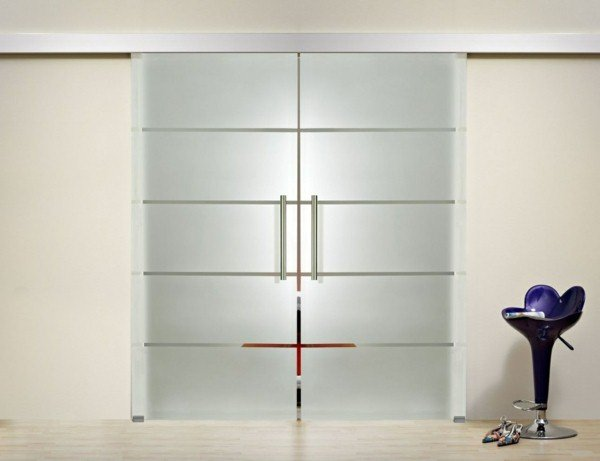 Portes coulissantes en verre 43 id es design qui vont for Porte interieur double vitree