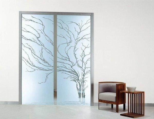 portes coulissantes en verre 43 id es design qui vont. Black Bedroom Furniture Sets. Home Design Ideas