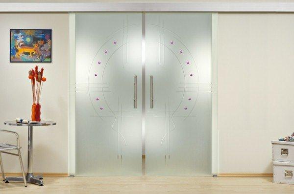 porte de chambre avec vitre portes coulissantes en verre id es design qui vont - Modele Porte Chambre