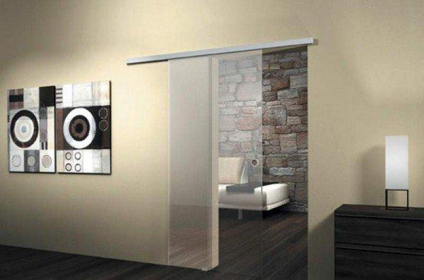 portes coulissantes en verre 43 id es design qui vont vous surprendre. Black Bedroom Furniture Sets. Home Design Ideas