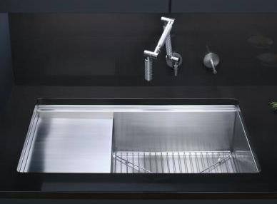 Evier de cuisine rectangulaire for Modele evier de cuisine