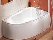 baignoire-asymétrique Styles et formats des baignoires sabot / îlot: de 70 cm à 120 cm et plus