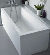 baignoire-rectangulaire Styles et formats des baignoires sabot / îlot: de 70 cm à 120 cm et plus
