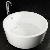 baignoire-ronde Styles et formats des baignoires sabot / îlot: de 70 cm à 120 cm et plus