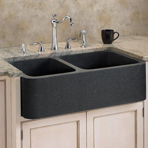 évier à poser gris en granit